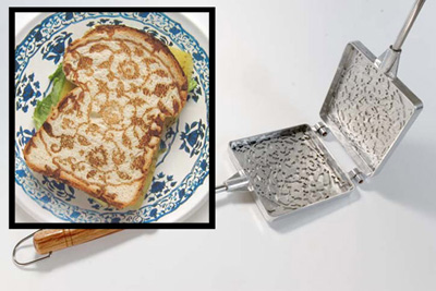A toaster that imprints a pattern