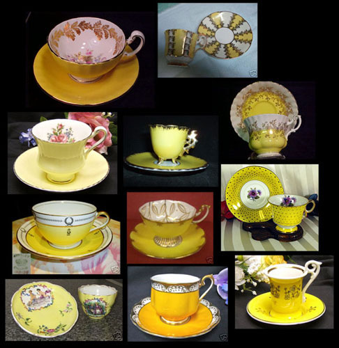 My dream collection of yellow teacups