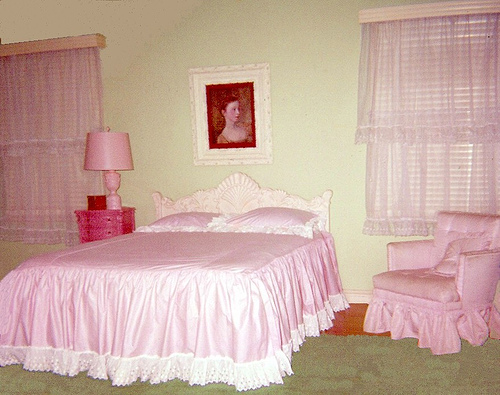 Super ugly pink room