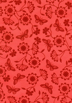 Cristina Re's flocked paper range papillon rouge