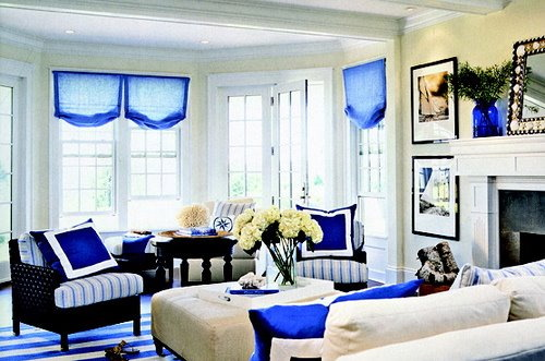 living room in black and white with brilliant royal blue accents. Blue Living Room Black Furniture  Photos Hgtv Modern Living Room