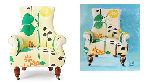 Kimberley Applegate's interpretation of Anthropologie's Astrid chair