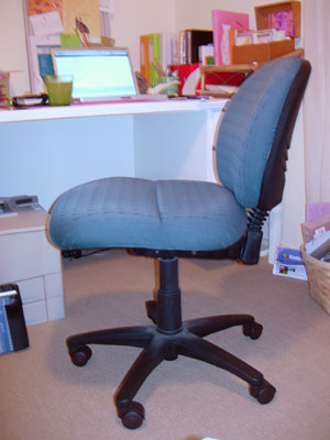 My awful green office chair