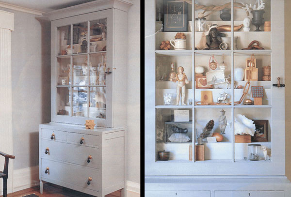 Custom made curio cabinet for Martha Stewart Magazines