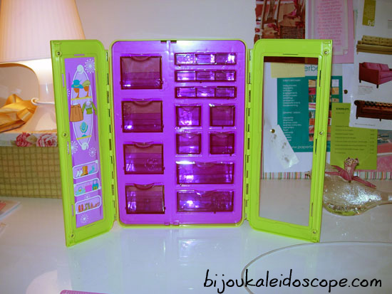 Could I use the thrifted Polly Pocket wardrobe for beads and findings storage?