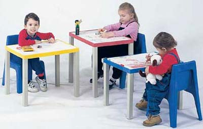 Kids table to fit art paper