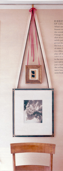 Interesting way of hanging artwork off pic rail