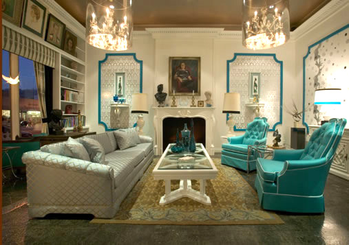 woodson+rummersfield showroom in whites, turquoise and silvers