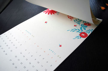 2008 calendar by good on paper