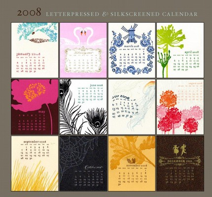 2008 letterpress calendar from ilee