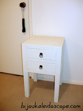 Bedside tables found on the side of the road