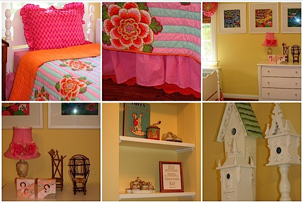 The Tolman's happy nursery for their two adopted girls. Perfect for storytelling