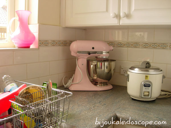 my pink KitchenAid mixer