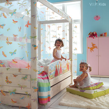 Dreamy nursery with butterflies and curtains