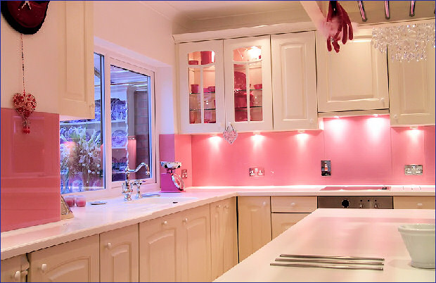 Opti coloured pink kitchen
