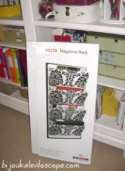 Room to Grow black and white magazine rack