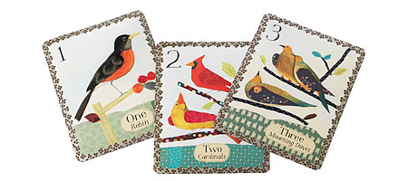 counting cards bird themed