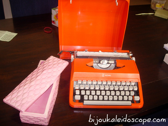 My thrifted Lytton orange typewriter