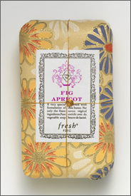 A yellow floral soap, via Fresh.com
