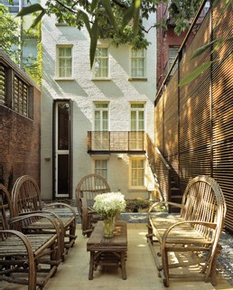 Intimate courtyard perfect for townhouses or apartments