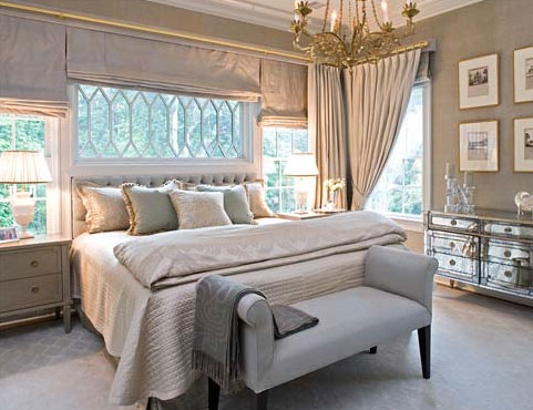 A light filled and creamy bedroom, via Sherrill Canet Interiors.