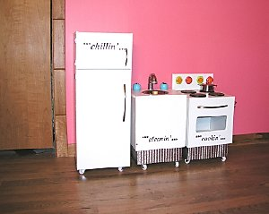Michele Beschen's toy kitchen transformation, via DIY Network.