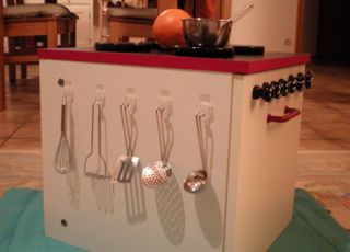 Jenny hacked an adorable toy kitchen from an IKEA unit.