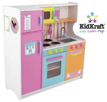 A Kidkraft kitchen.