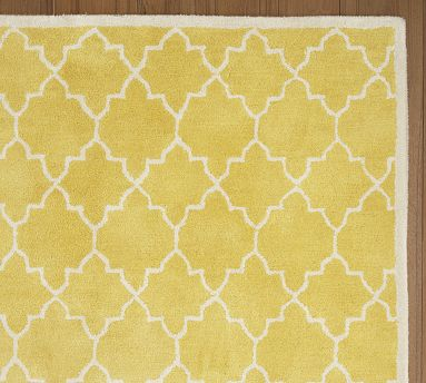 Moorish Tile yellow rug  by Pottery Barn