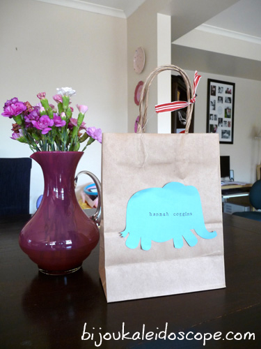 The elephant themed party bag