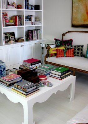 Large white coffee table in Anna Spiro's new Brisbane home