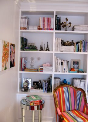 Library shelves in Anna Spiro's new Brisbane home