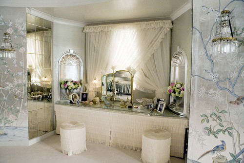 Ornate boudoir dressing area, Miss Pettigrew Lives for A Day