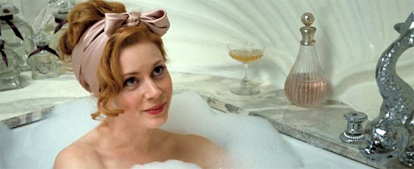 Amy Adams as Delysia in her art deco bathtub, Miss Pettigrew Lives for a Day