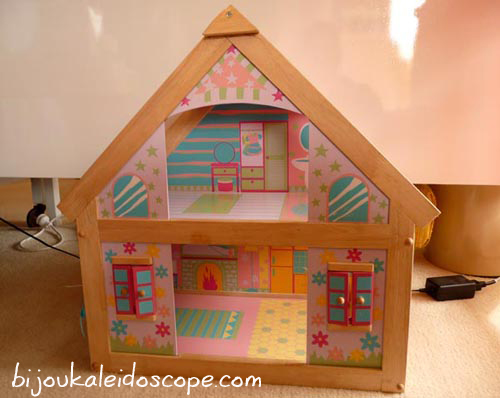 The dollhouse before I jazzed up for Hannah.