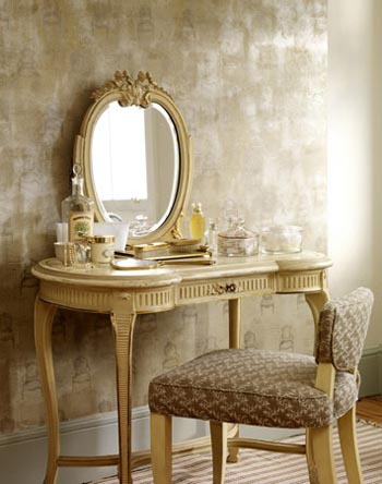 French dressing table in a soft muted colour space