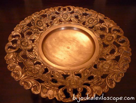 This brass dish thrifted and polished