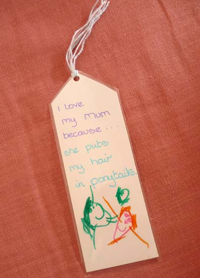 The Happy Mothers Day bookmark from Hannah