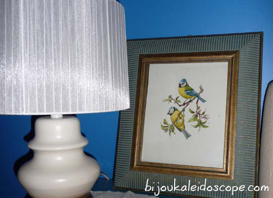 My favourite vintage bird pic, in our blue bedroom