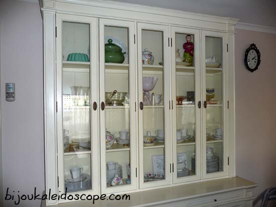 My beloved china cabinet with my favourite china pieces