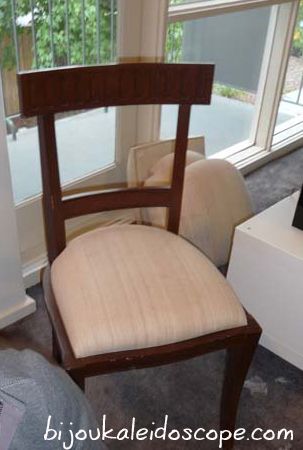 The dining chairs before recovering