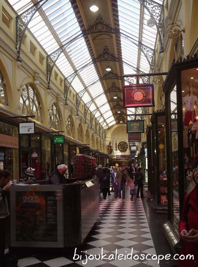 The quaint setting for these stores, an old shopping arcade in Melbourne