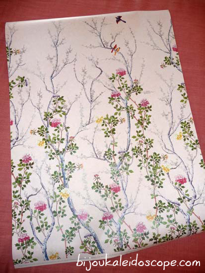 My wrapping paper from the Museum Galleries, the Chinese Blossom Wallpaper