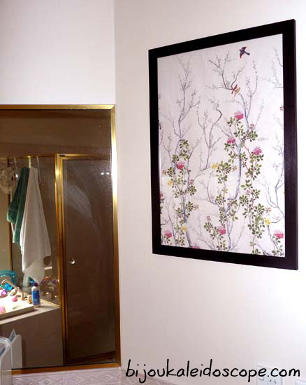It's hung! The Chinese Blossom Wallpaper,  Museum Galleries.