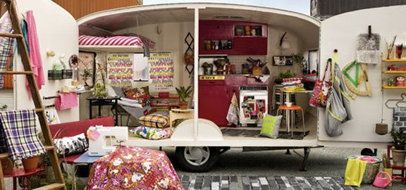 Caravan used for pop up shop