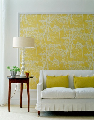 One of my favourite rooms with the beautiful yellow wallpaper frame