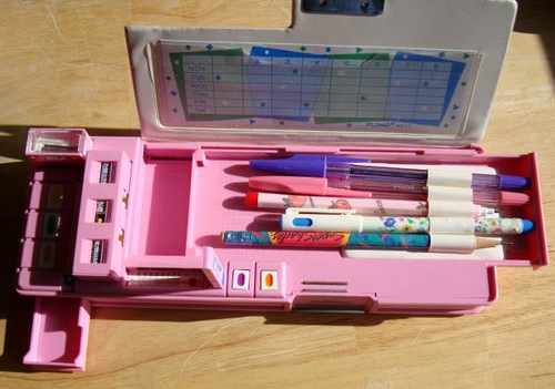 80s pencil case, via Flickr: Sakurako Kitsa