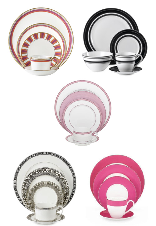 Mix and match pink dinnerware