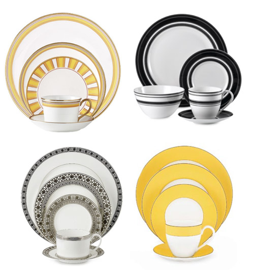 Mix and match yellow dinnerware