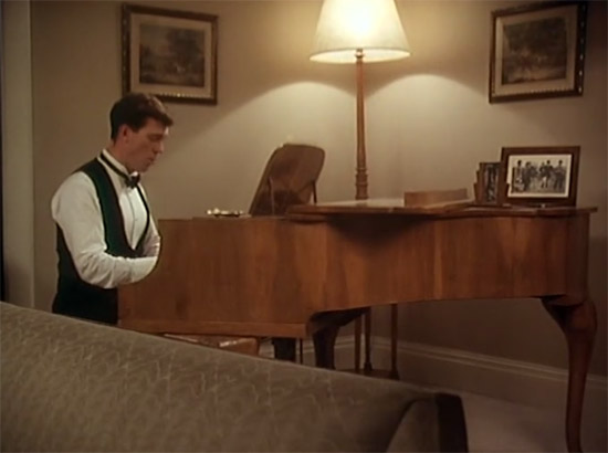 Wooster at his piano, Jeeves & Wooster